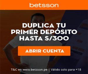 Banner Betsson primer depósito Perú